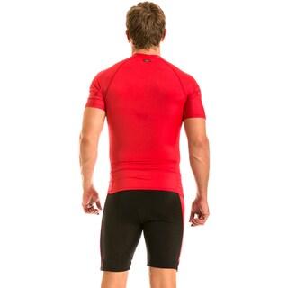 Insta Slim Men's Compression Colorblock Knee Shorts