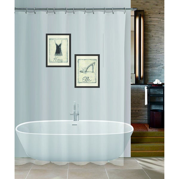 Palace Linens Anti-mildew Heavy Shower Liner (70 inches x 72 inches)