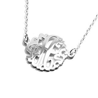 Small Sterling Silver Monogram Necklace