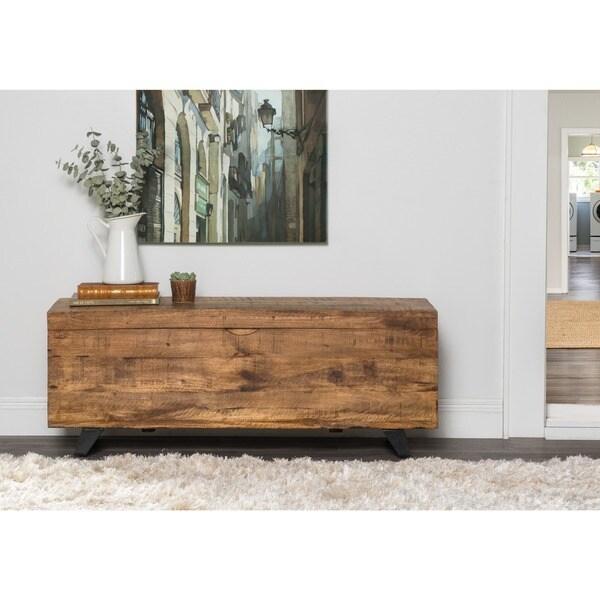 Axis Mid Century Raw Mango Wood Storage Chest By Kosas Home