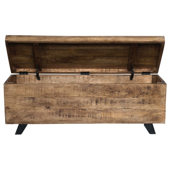 Axis Mid Century Raw Mango Wood Storage Chest By Kosas Home   Free Shipping  Today   Overstock.com   18051091