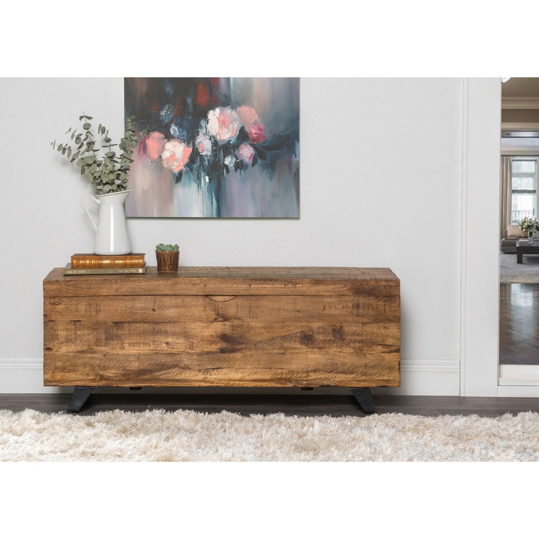 Exceptionnel Carbon Loft Henrietta Mid Century Raw Mango Wood Storage Chest
