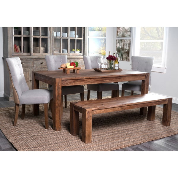 Sotto Rustic Brown Wood 70 Inch Dining Table By Kosas Home
