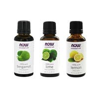 Now Foods 1-ounce Essential Oils Uplifting Set of 3 (Bergamot, Lemon, Lime)