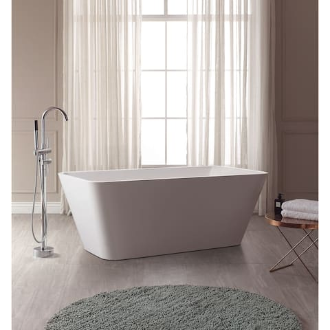 """Avanity 63"""" Free Standing Acrylic Soaking Tub with Center Drain, Pop-Up Drain Assembly, and Overflow"""