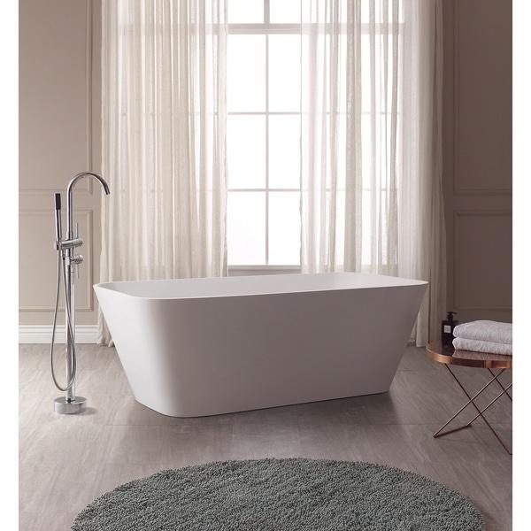 "Avanity VersaStone Yoshi 67"" Free Standing Solid Surface Rectangular Bathtub"