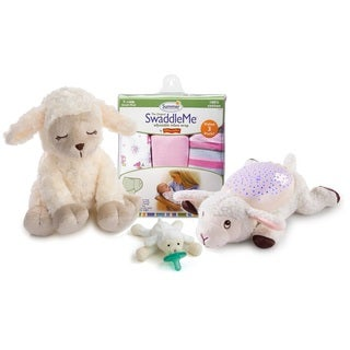 Summer Infant Soothing Sounds and Lights Little Lamb with 6-piece Swaddle Value Pack