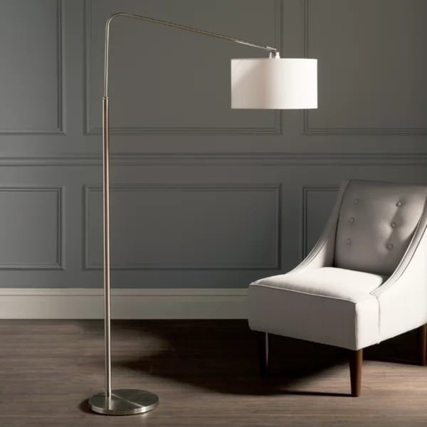 Artiva The 80-Degrees 64-Inch Medium Arch Brushed Steel Floor Lamp