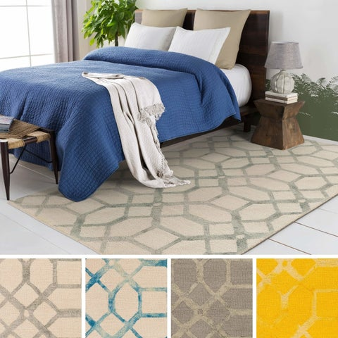 Strick & Bolton Mason Hand-tufted Wool Geometric Area Rug
