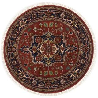 ecarpetgallery Serapi Heritage Orange Wool Rug (4'1 x 4'1)