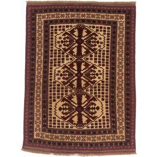 ecarpetgallery Tajik Tribal Red/ Yellow Wool Rug (6'3 x 8'6)