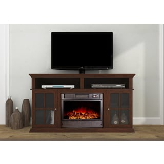 Alessandro Brown Entertainment Center 62-inch Electric Fireplace