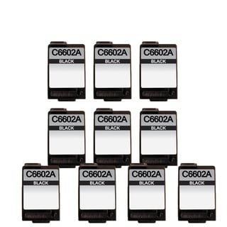 10 Pack HP C6602A Compatible Ink Cartridge For HP C6602A ( Pack of 10 )