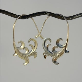 Spirit Tribal Fusion Unfurling Wave Earrings (Bali)