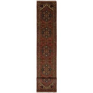 ecarpetgallery Serapi Heritage Brown Wool Rug (2'7 x 15'9)