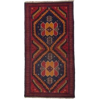 ecarpetgallery Kazak Red Wool Rug - 3'5 x 6'7