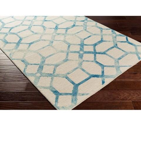 Strick & Bolton Mason Hand-tufted Wool Geometric Area Rug
