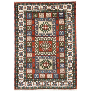 ecarpetgallery Royal Kazak Orange Wool Rug (4'8 x 6'8)