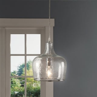 ABBYSON LIVING Addelyn Clear Glass 1 Light Pendant