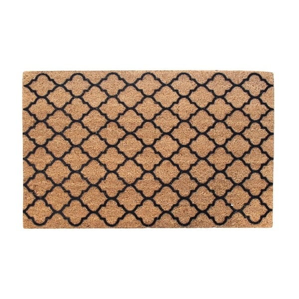 First Impression Walden Ogee Entry Flocked Doormat, Large Size (24 x 36)