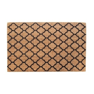 First Impression Walden Ogee Entry Flocked Doormat, Large Size (24 x 36)
