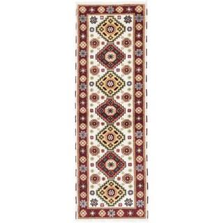 ecarpetgallery Royal Kazak Beige Wool Rug (2'8 x 8'2)