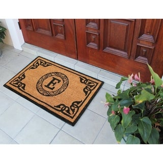 "First Impression Hand Crafted by Artisans Geneva Monogrammed Entry doormat (24"" x 39"")"
