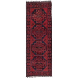 ecarpetgallery Finest Khal Mohammadi Red Wool Rug (1'8 x 4'9)