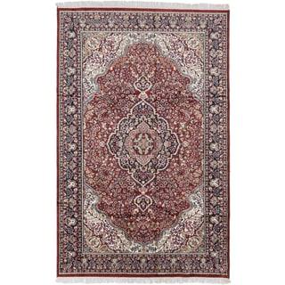 ecarpetgallery Kashmir Orange Silk Rug (5'11 x 9'3)