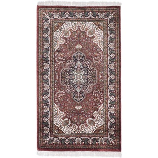 ecarpetgallery Kashmir Orange Silk Rug (2'7 x 4'5)