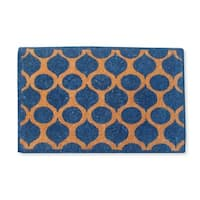 First Impression Handwoven Benita Extra Thick Natural Printed Coir Mat (Large Size)