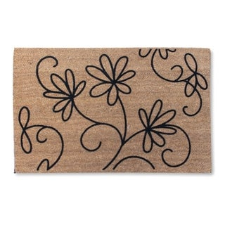 First Impression Jasmine Coco Flocked Doormat, Large Size (24 x 36)