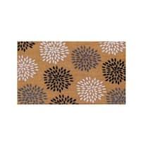 First Impression Vinson Coir Entry Flocked Doormat, Large Size (24 x 36)