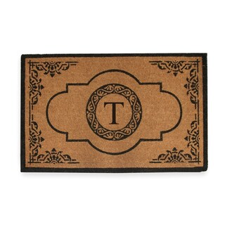 First Impression Hand Crafted Abrilina Entry Monogrammed Double Doormat (30 x 48) (More options available)