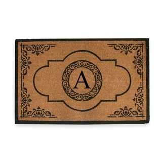 Link to First Impression Hand Crafted Abrilina Entry Monogrammed Double Doormat Similar Items in Decorative Accessories
