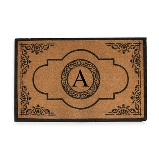 First Impression Hand Crafted Abrilina Entry Monogrammed Double Doormat