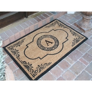 Beau First Impression Hand Crafted Abrilina Entry Monogrammed Double Doormat (30  X 48)