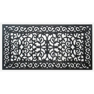 "First Impression Audie Durable And Attractive Rubber Entry Double Doormat (23.62"" L x 47.25"" W)"