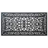 First Impression Audie Durable And Attractive Rubber Entry Double Doormat (1'11 x 3'11)