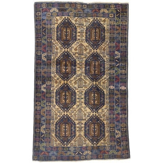 ecarpetgallery Royal Baluch Blue/ Yellow Wool Rug (4'0 x 6'6)