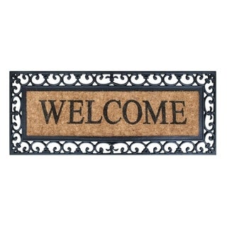 First Impression Myla Welcome Entry Double Doormat (17.71 x 47.25)