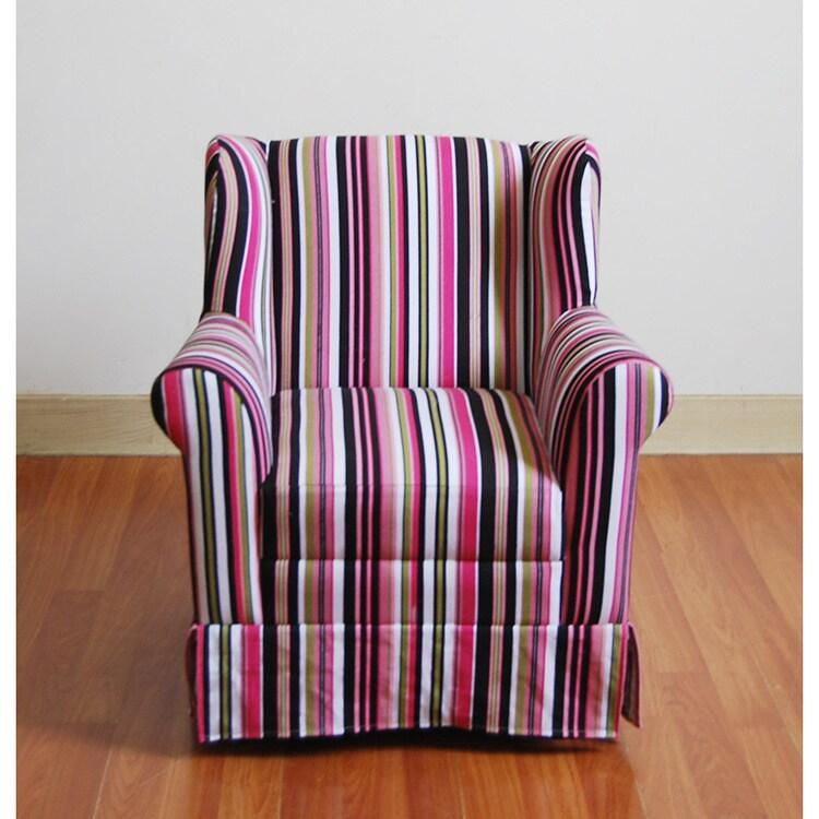 4D Girls Wingback Chair, Black (Polyester Blend)