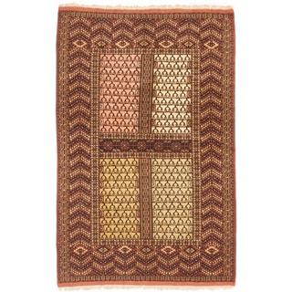 ecarpetgallery Shiravan Bokhara Beige/ Brown Wool Rug (4'6 x 6'11)