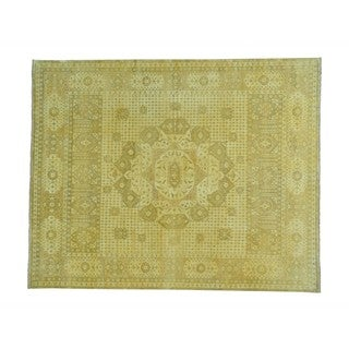 Mamluk Handmade Pure Wool Historical Egyptian Oriental Rug (8' x 10')