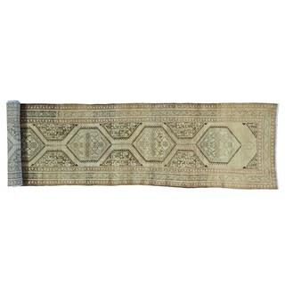 Antique Persian Heriz XL Runner Handmade Exc Cond Rug (3'5 x 17'10)
