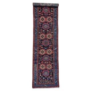 Antique Persian Kurdish XL Runner Handmade Full Pile Rug (3'3 x 14'4)