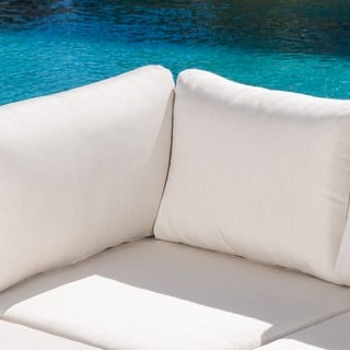 Santa Rosa Outdoor 7-piece Wicker Seating Sectional Set with Sunbrella Cushi by Christopher Knight Home