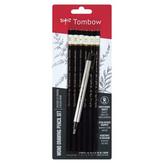 Tombow MONO Drawing Pencil Combo Pack with Zero Eraser Graphite (Pack of 6)