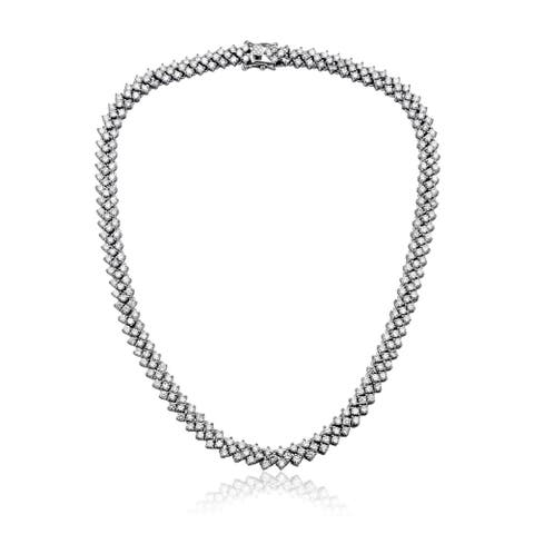 Collette Z Sterling Silver Braided Links Necklace - White