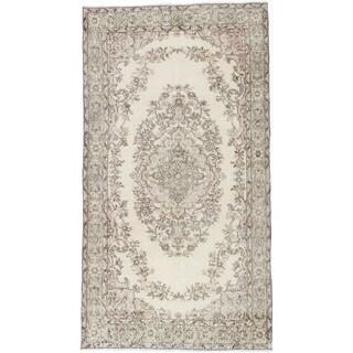 ecarpetgallery Anatolian Vintage Beige Wool Rug (3'10 x 7'1) - 3'10 x 7'1